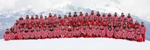 Les moniteurs de l'école de ski de Combloux